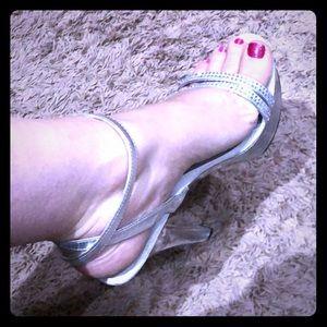 Pleaser clear platform heels size 11